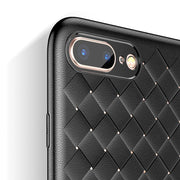 Artisome Woven Grid Case For IPhone 7 Case Soft Matte TPU Protective Phone Cases For IPhone 6 6S 7 8 Plus X Luxury Back Cover