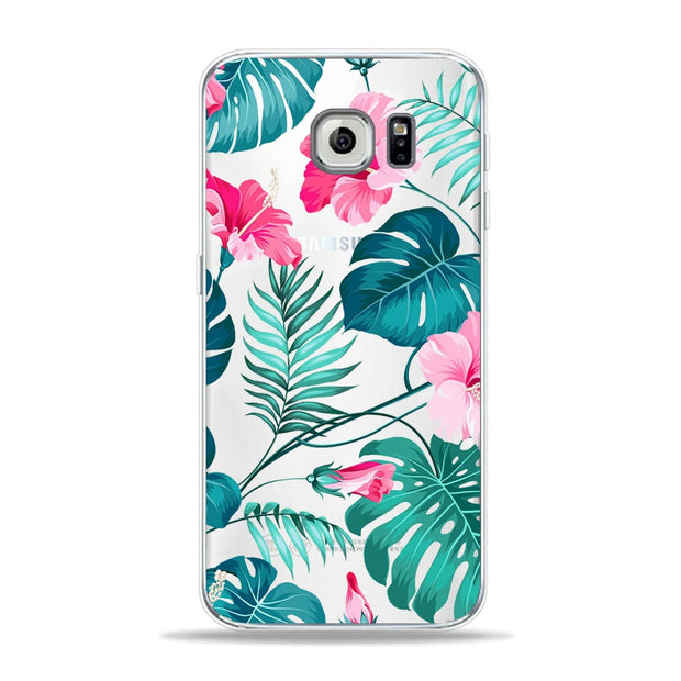 Autumn Art Floral Chrysanthemum Leaf Butterfly Phone Case For Samsung S6 S7 Edge S9 S8 Plus A5 Soft TPU Cover For A6 2018 Case