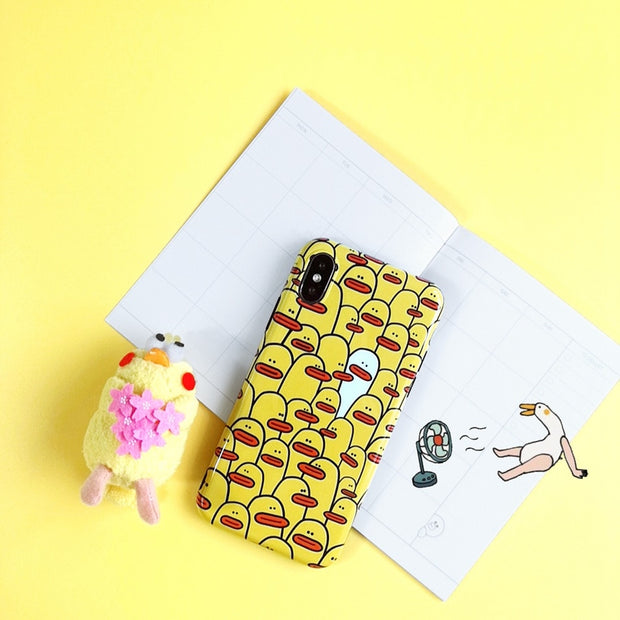 Axbety For IPhone 7 Case Cute Cartoon Duck Phone Cover For IPhone X XS 6 6S 8 Plus Fashion Funny Animal Lovely Soft TPU Fundas