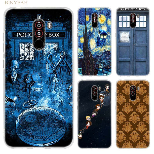 BINYEAE Box Doctor Who Van Gogh Case Cover For Xiaomi Pocophone F1 6.18 Inch Transparent Silicone TPU Soft