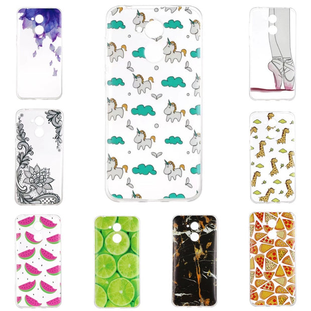 Back Case For Huawei Honor 6A TPU Cover Soft Rubber Gel Phone Cases For Honor 6A Unicorn Giraffe Lemon Friut Etui Coque Hoesjes