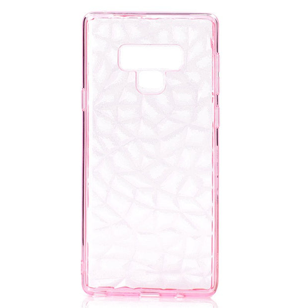 Back Cover For Samsung Galaxy Note 9 Case Transparent Soft TPU 3D Diamond Pattern Mobile Phone Cases For Samsung Note 9