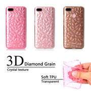 Back Cover For Xiaomi Redmi 6 Case Transparent Soft TPU 3D Diamond Pattern Mobile Phone Cases For Redmi 6