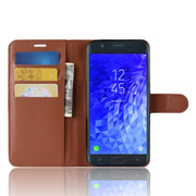 Baiscxst Luxury Leather Flip Case For Samsung J7 2018 Stand Book Wallet Case For Samsung J7 2018 Cover Coque On Phone Bags