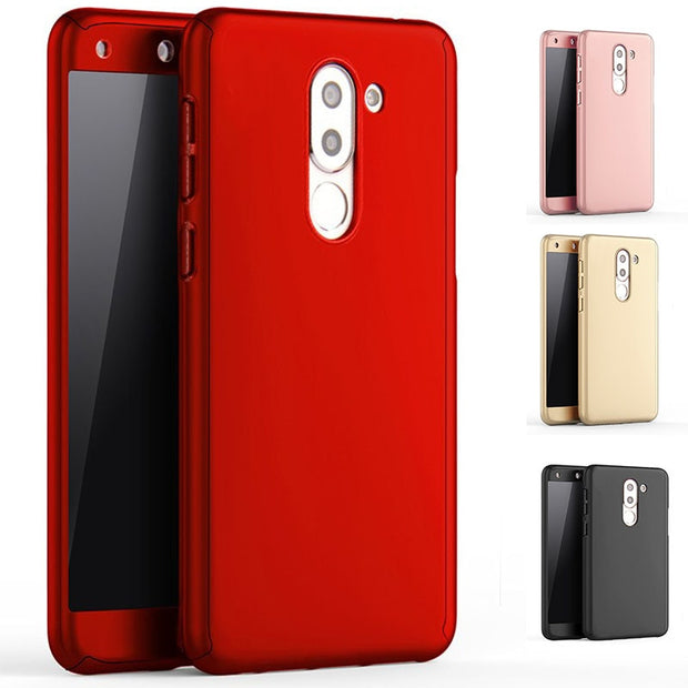 Beira 360 Full Body Phone Case For Huawei Honor 6x 6X RG5 2017 Huawei Mate 9 Lite Shockproof Back Plastic Cover Glass Gift