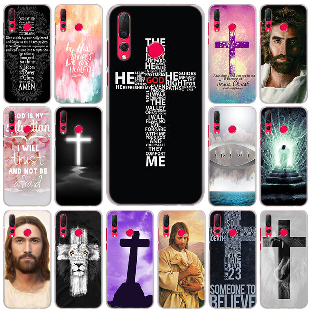 Bible Jesus Christ Christian Cross Cases Cover For Huawei Nova 3 3i 3e 4 Mate 10 20 Lite P20 Lite Hard PC Plastic Phone Cases