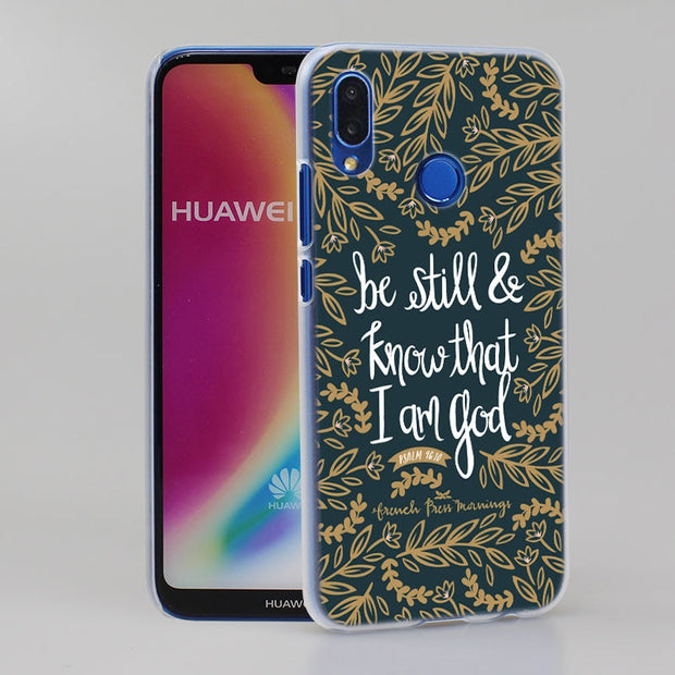 Bible Verse Philippians Jesus Phone Case Cover For Huawei Nova 2i 3 3e 3i 4 Mate 10 20 Lite P20 Pro P20 Lite Hard PC Phone Cases