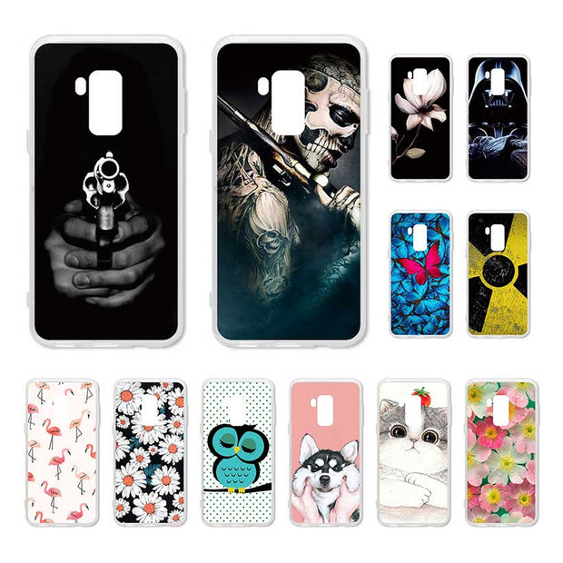 Bolomboy DIY Painted Case For Bluboo S8 Case Silicone Soft TPU For Bluboo S8 Cover Coque Flamingo Spiderman Bags 5.7 Inch