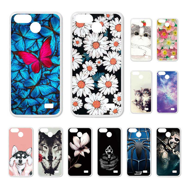 Bolomboy Painted Case For Blackview A7 Case Silicone Soft TPU For Blackview A7 Pro Cover Coque Flamingo Spiderman Bags A7Pro