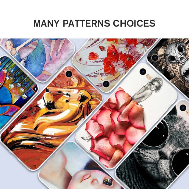 Bolomboy Painted Case For Homtom S8 Case Silicone Soft TPU For Homtom S8 Cover Coque Flamingo Spiderman Bags S 8 5.7 Inch
