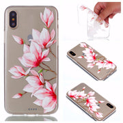 BoteBling Paint Pineapple Soft TPU Thin Transparent Silicone Clear Phone Case For Iphone X Case Totem Pattern Couple Couqe Shell