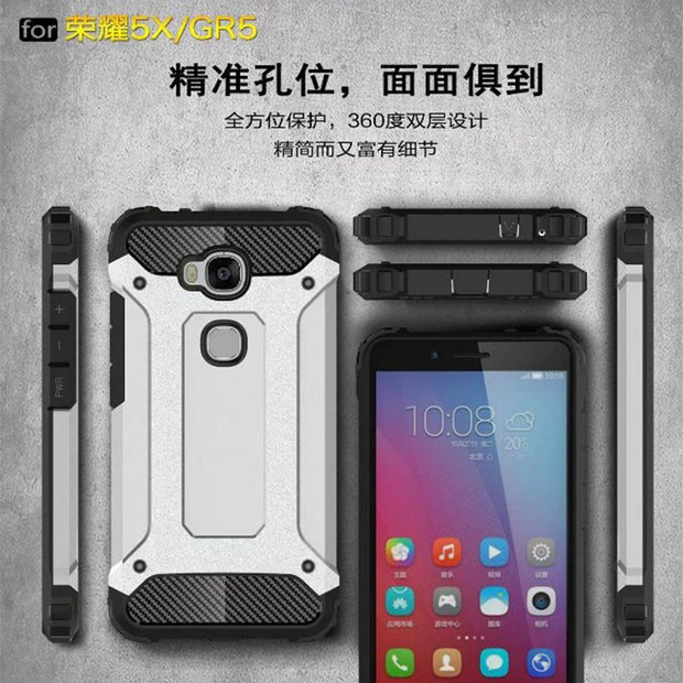 Brand Tuke For Funda Huawei Honor 5X 5 X Case Plastic Hard Heavy Dual Layer Defender Armor Phone Cases For Huawei GR5 Case Cover