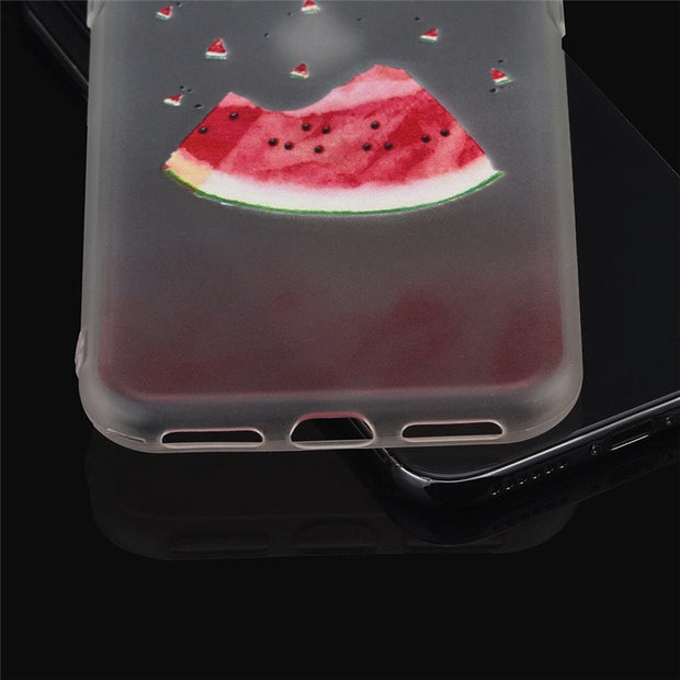 CARPRIE Mobile Phone Cases Ultra Thin Matte Silicone Phone Case Fruit Watermelon For Iphone X 5.8inch Td0809 Dropship