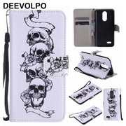 Capa Flip Fundas Leather For LG K10 K3 2017 K420N K7 LS675 Stylus 2 LS775 X Power Nexus 5X Phone Bags Colored Painted Cases P06Z