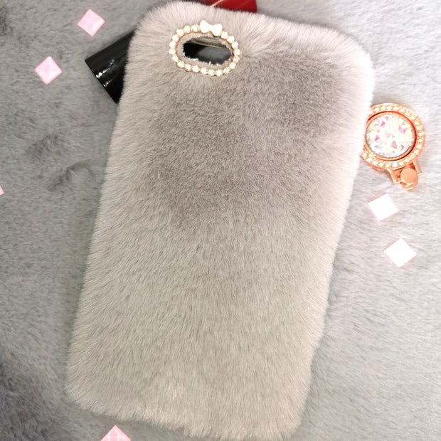 Capa Samsung A6 Fluffy Phone Case For Samsung A6 Plus Case Soft Silicone TPU Back Cover For Galaxy A8 2018 A5 E5 G5308 Fundas