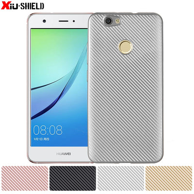 Carbon Fiber Soft Silicone Case For Huawei Nova CAN-L01 CAN-L11 Case TPU Phone Cover For Huawei Nova1 CAN L11 L01 Cover Fundas