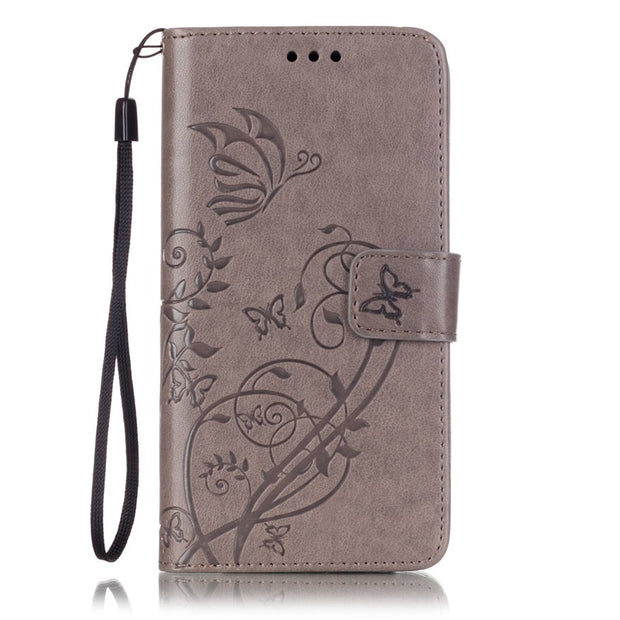 Card Slot Luxury Retro Flip Cover For Wiko Fever 4G PU Leather+ Silicone Wallet Case For Wiko Fever 4G Case Phone