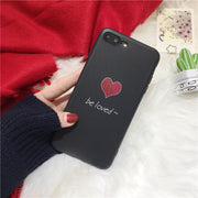 Cartoon Love Heart Phone Case For Iphone 7 8 PLus Cases Fashion Soft Silicone Back Cover For Iphone 6 6s X Case Capa Fundas