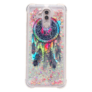 Cartoon Shell Protection For Huawei Mate 20 Pro Lite Mate 10 Pro Shine Liquid Quicksand Dynamic Back Clear Cover Phone Case