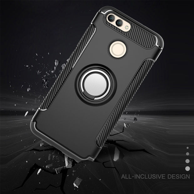 Case For Huawei Nova 2 2 Plus Coque Fundas Silicone Hard PC Magnetic Ring Armor Smartphone Funda Cover Case For Nova2 2Plus Case