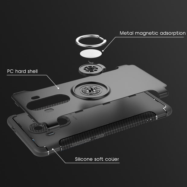 Case For Huawei Mate 10 Pro Case Silicone Hard PC Magnetic Ring Armor Smartphone Cover Case Funda For Huawei Mate 10 Pro Capas
