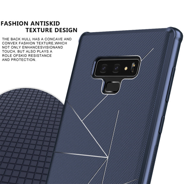 Case For Samsung Galaxy Note 9 Note9 N960F Car TPU Magnetic Luxury Geometric Silicone Back Cover Bag For Samsung Note 9 6.4 Inch
