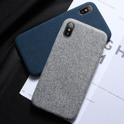 Case For IPhone 7 6 X XS MAX Luxury Cloth Texture Soft TPU Silicone Cover For IPhone 8 IPhone 6 6s 7 Plus Phone Case Bag