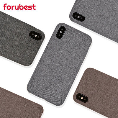 Case For IPhone 7 6 X XS MAX Luxury Cloth Texture Soft TPU Silicone Cover For IPhone 8 IPhone 6 6s 7 Plus XR Phone Case Bag Back