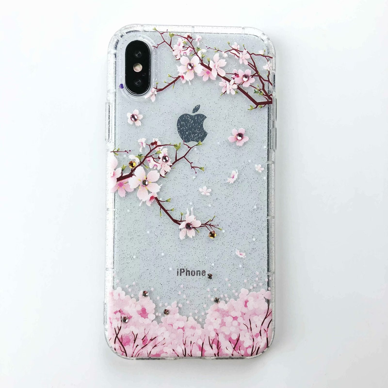 coque iphone 6 blue with blossoms