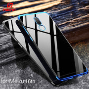 Case For Meizu 16th Case Luxury Clear Transparent Bumper TPU Silicone Shockproof Anti-slip Plating Cover For Meizu 16th Case