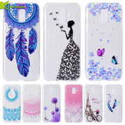 Case On SFor Samsung Galaxy A6 2018 Cover Cute Butterfly Soft TPU Silicone Phone Cases For Samsung Galaxy A6 Plus A6+ 2018 Coque