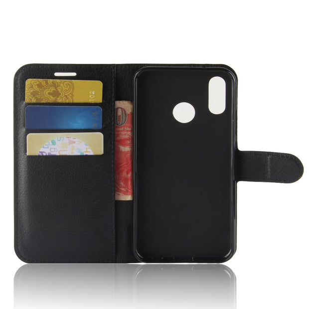 Celular Huawei P20 P 20 Lite Retro Litchi PU Leather Case For Huawei P20 Lite Flip Wallet Card Slot Cover Phone Cases On P20 Pro