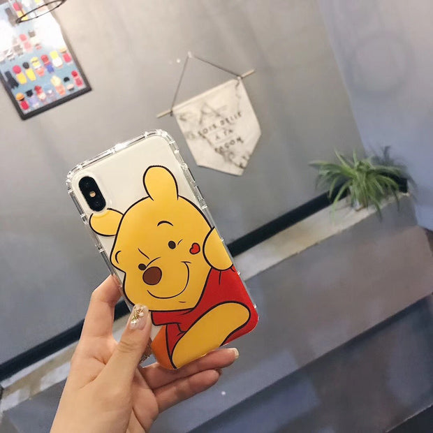 Classic Cartoon Characters Phone Case For IPhone7 Case For IPhone 6 6s 7 8 Plus Soft Transparent Phone Case For IPhone X Case