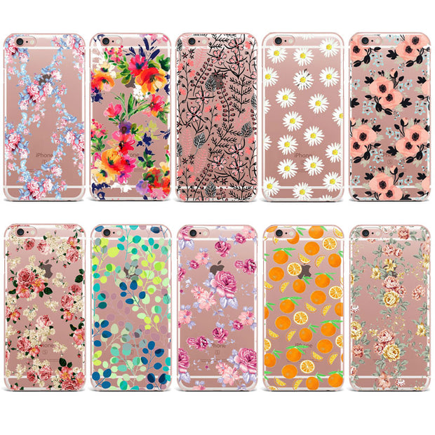 Colorful Autumn Fall Cute Floral Leaf Fruit Phone Case For Huawei P8 P9 P10 Lite Soft TPU Cover For Honor 10 Mate 10 Lite Case