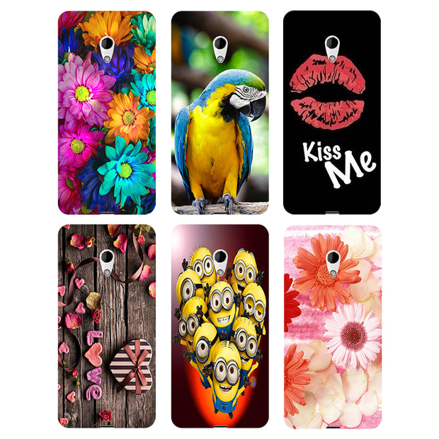 Coque For HTC Desire 620 620G 820 Mini Dual SIM Case Floral Plants Unicorn Printed Back Cover Flamingo Hard Plastic Phone Case