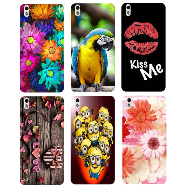 Coque For HTC Desire 816 816G Dual Sim Case Floral Plants Unicorn Printed Back Cover Flamingo Owl Animal Hard Plastic Phone Case