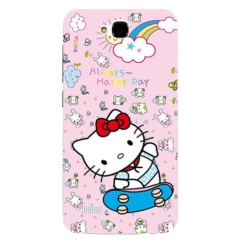 Coque For Huawei Honor 3C Lite/Honor 3C Play/Honor Holly Case Floral Plants Unicorn Printed Back Cover Hard Plastic Phone Case