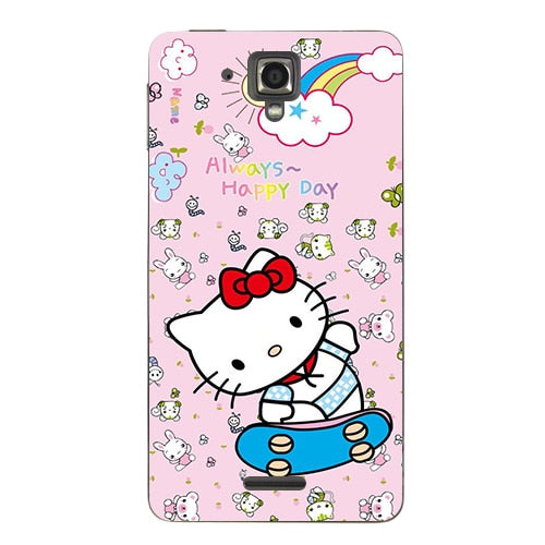 Coque For Lenovo S8 S898T Case Floral Plants Unicorn Printed Back Cover Flamingo Cute Cat Owl Animal Hard Plastic Phone Case