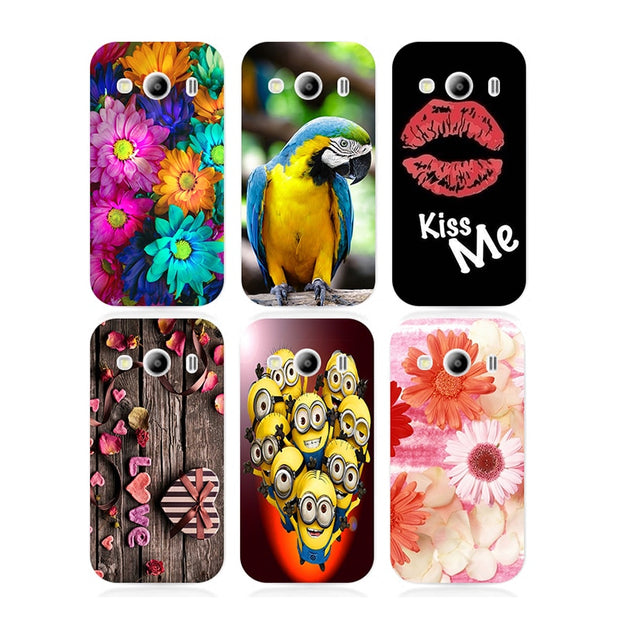 Coque For Samsung Galaxy Ace 4 LTE G357FZ Ace 4 Style LTE G357 SM-G357FZ Case Floral Plants Back Cover Flamingo Hard Phone Case