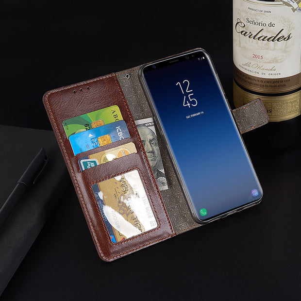 Coque For Samsung Galaxy S9 Plus Case Leather Case For Samsung Galaxy S9 Wallet Photo Frame Standing Flip Card Holder Phone Bags