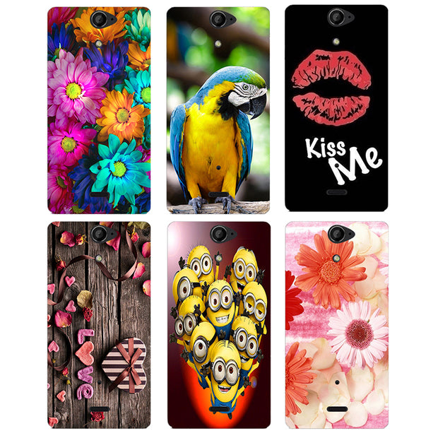 Coque For Sony Xperia V LT25i Case Floral Plants Unicorn Printed Back Cover Flamingo Cute Cat Owl Animal Hard Plastic Phone Case
