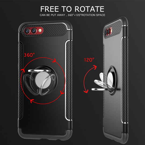Cover For Honor View 10 Case Silicone Hard PC Magnetic Ring Armor Smartphone Case Coque For Huawei Honor V10 HonorV10 Etui 5.99