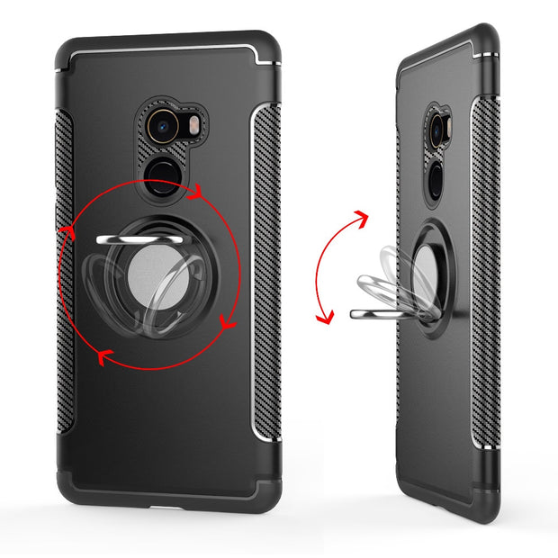 Cover For Xiaomi Mi Mix 2 Case Silicone Hard PC Magnetic Ring Armor Case Coque For Xiomi Xiaomi Mi Mix2 Mix 2 Case For Mi Mix 2