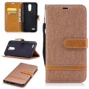 Cowboy Cloth Leather Case For Coque LG K10 2017 K10(2017) Filp Cover Wallet Stand Mobile Phone Bags Case For LG K10