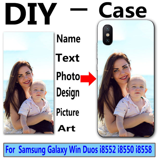 Custom DIY Design Print Photo Name Case For Samsung Galaxy Win I8552 I8558 I8550 Gt-i8552 Cover Customized Printed Phone Cover