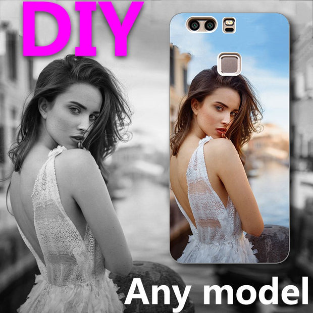 "Custom Print Photo DIY Customize Image Phone Case For Huawei Ascend P9 Plus P9+ 5.5"" Phone Back Shells For Huawei P9 Plus"