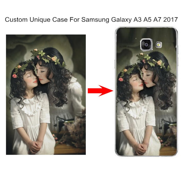 Customized Phone Cases For Samsung Galaxy A3 A5 A7 A8 2018 J3 J5 J7 Prime 2016 2017 Case Soft Silicone Custom Photo Logo Cover