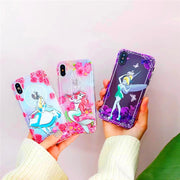 Cute Cartoon Alice Mermaid Flower Fairy Transparent Soft TPU Silicone Phone Case For IPhone X Xr Xs Max 8 7 6s Plus Cover Coque