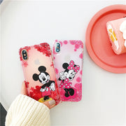 Cute Cartoon Mickey Minnie Stitch Winnie Phone Case For IPhone X XR XS Max 6 6s 7 8 Plus Air Cushion Shockproof Silicone Cover