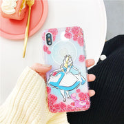 Cute Cartoon Princess Mermaid Phone Case For IPhone X XS 6 6s 7 8 8 Plus Air Cushion Shockproof Soft Silicone Cover Funda Coque